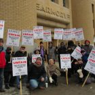 IATSE Local 13 stagehands picket Minneapolis Armory
