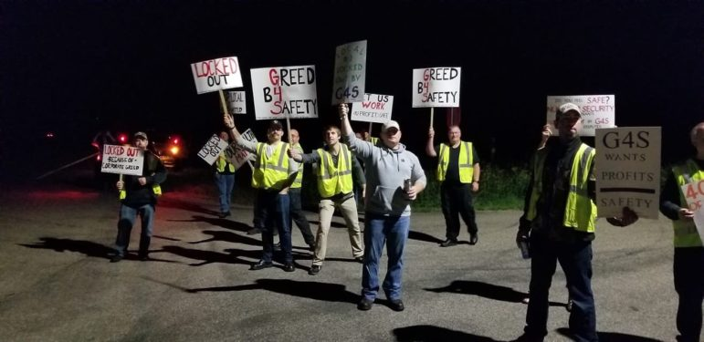 Picket at Monticello Power Plant