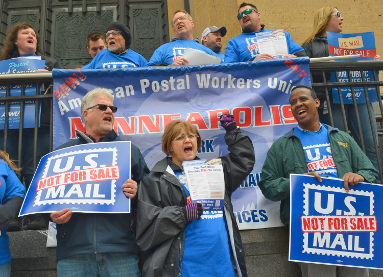 Postal Employees Protest