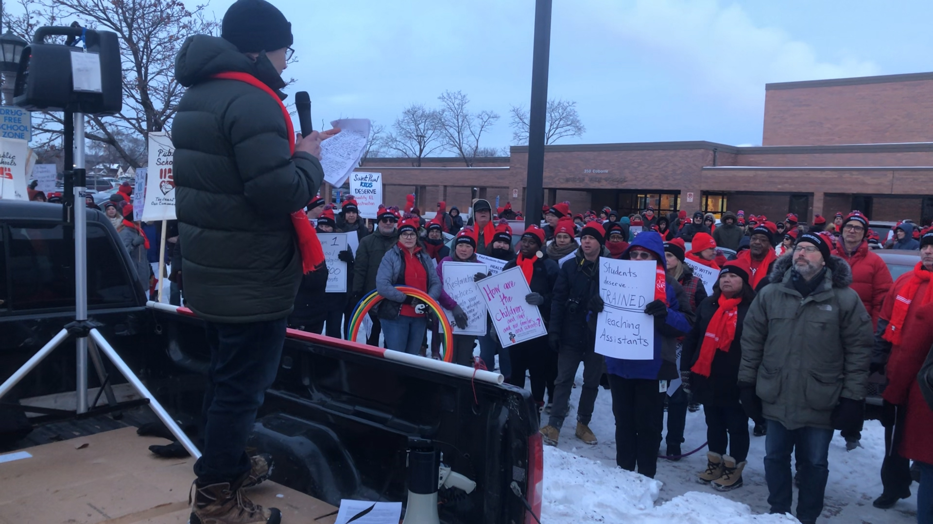 St Paul Educators Protest