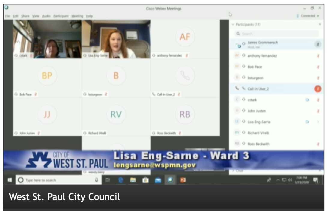 West St Paul City Council Meeting