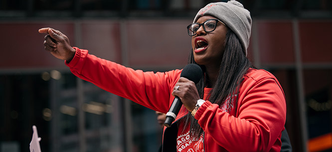 Chicago Teachers Union Vice President Stacy Davis Gates