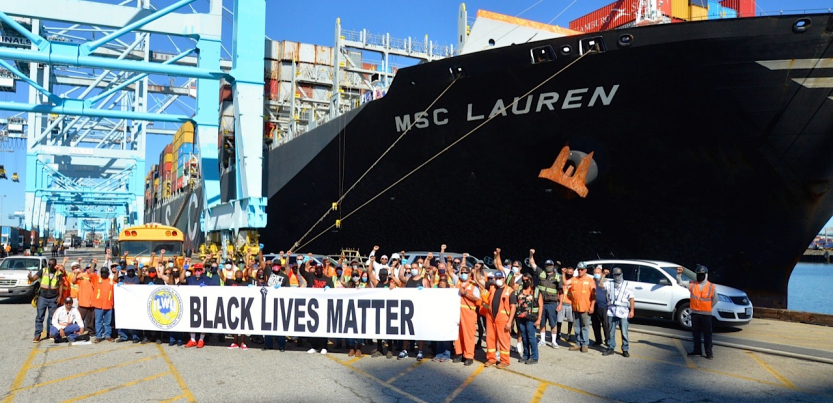Longshore Workers support #BLM