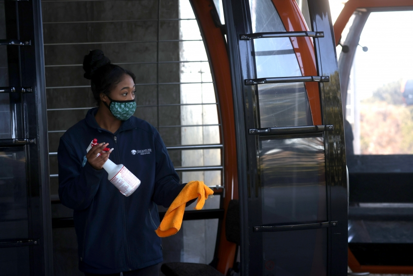 Worker Sanitizing Bus