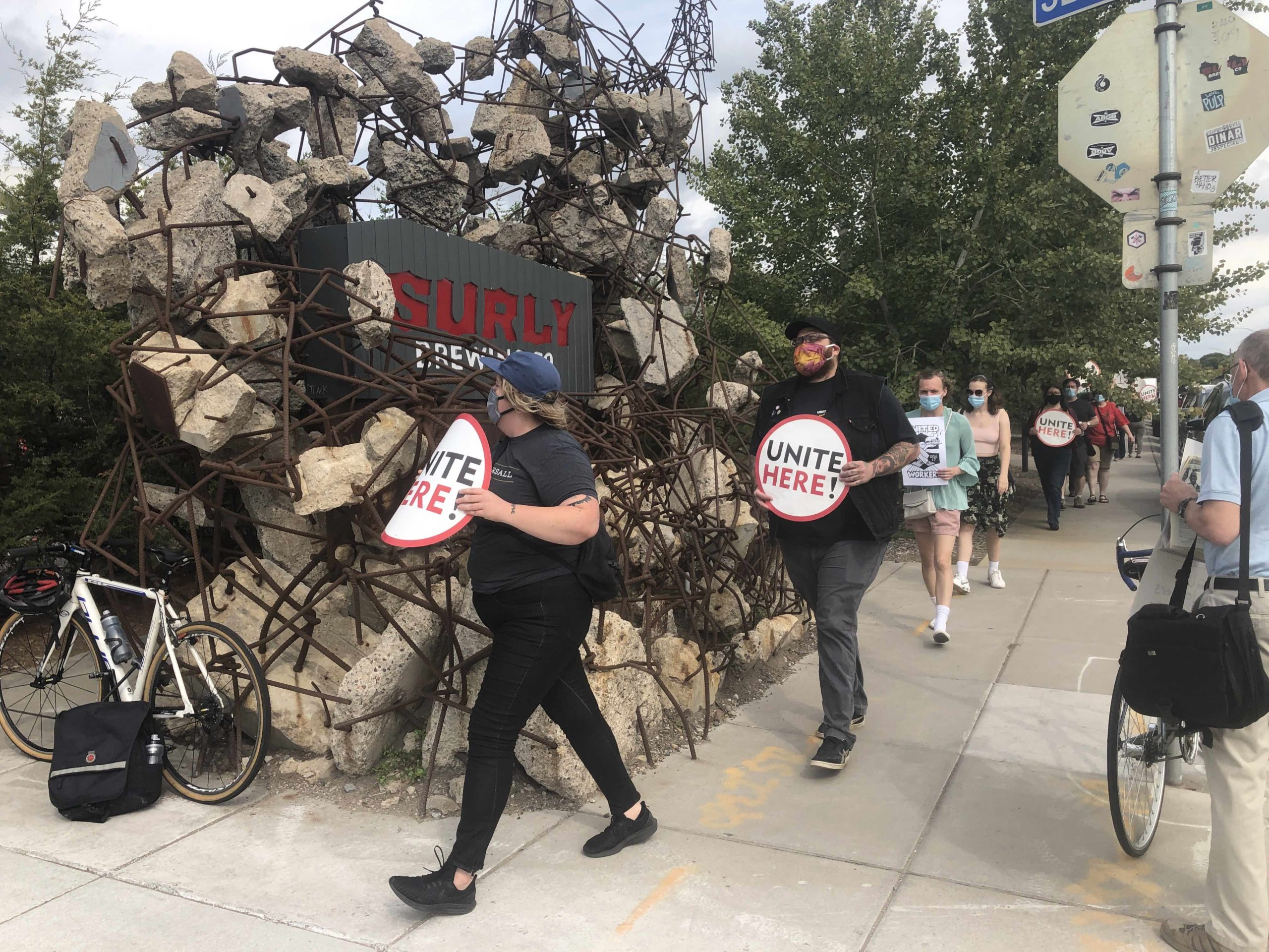 Surly Worker Protest