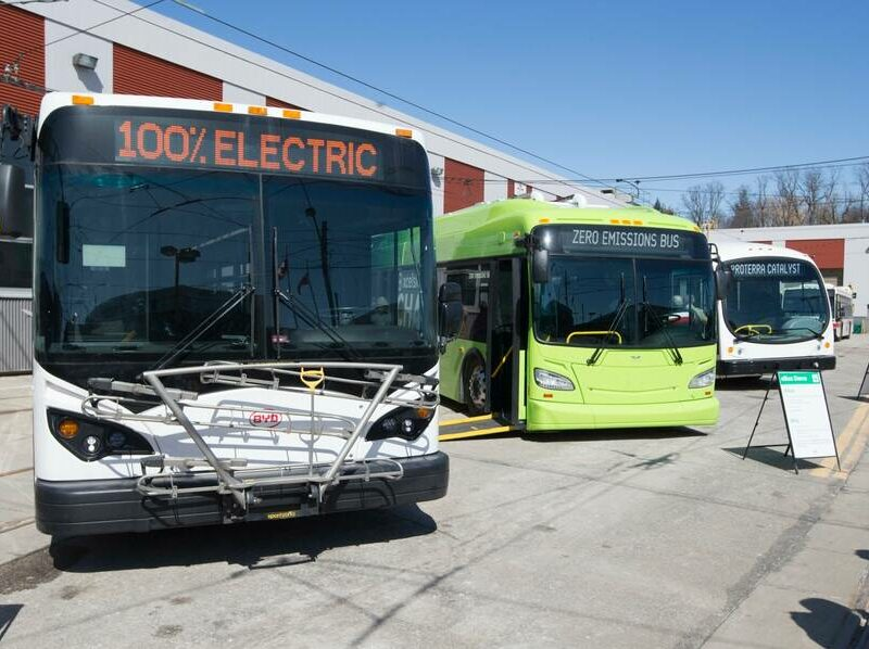Several New Flyer buses in use in Toronto.